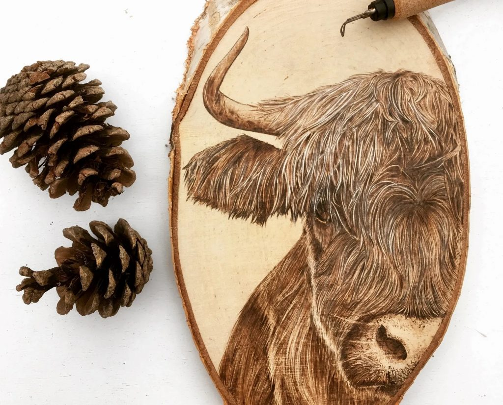Pyrography Wood Art By Cowshed Creations