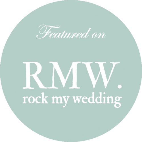As featured in Rock My Wedding