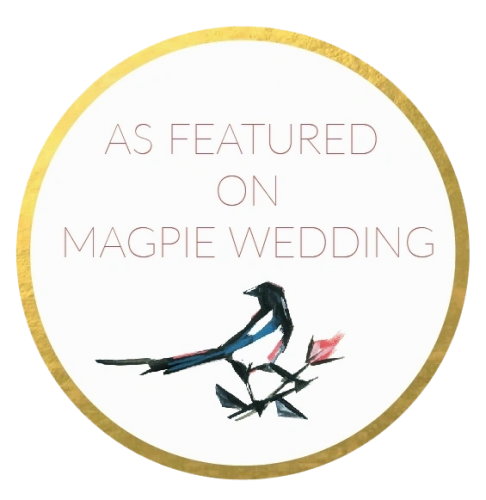 As featured in Magpie Wedding