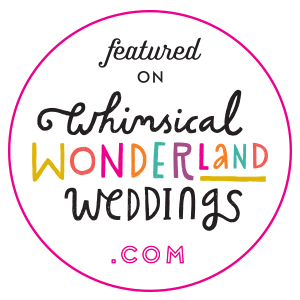 As featured in Whimsical Wonderland Weddings