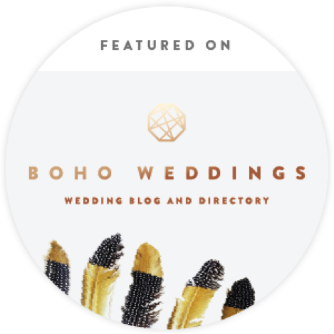 As featured in Boho Weddings