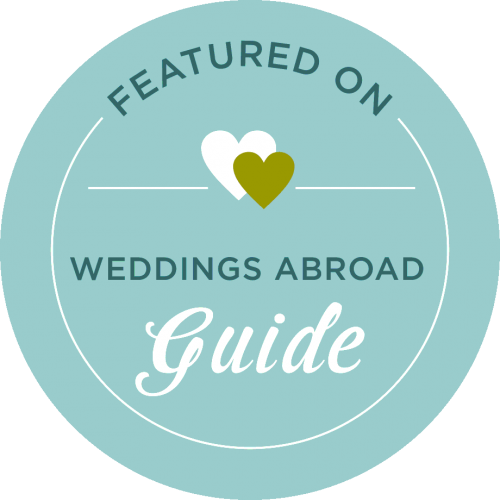 As featured in Weddings Abroad Guide